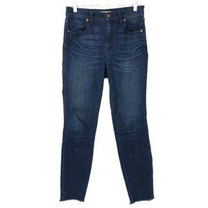 "Madewell 10"" High Riser Skinny Skinny Jeans Blue"